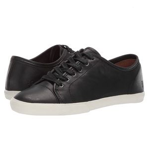 FRYE Mindy Low lace Leather Sneakers Black